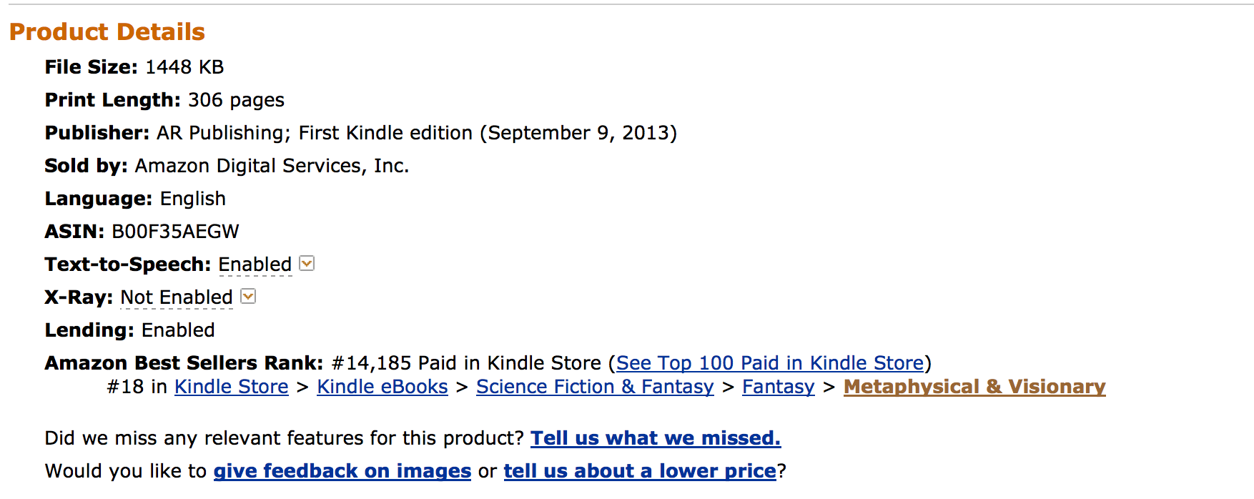 Ranking 18 on Amazon Best Seller List