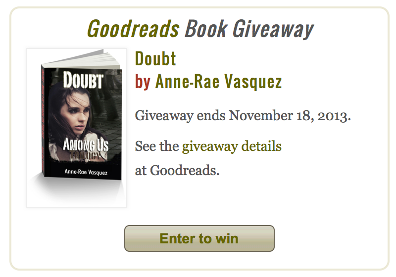 GoodReads Giveaway Doubt Among Us Trilogy 1
