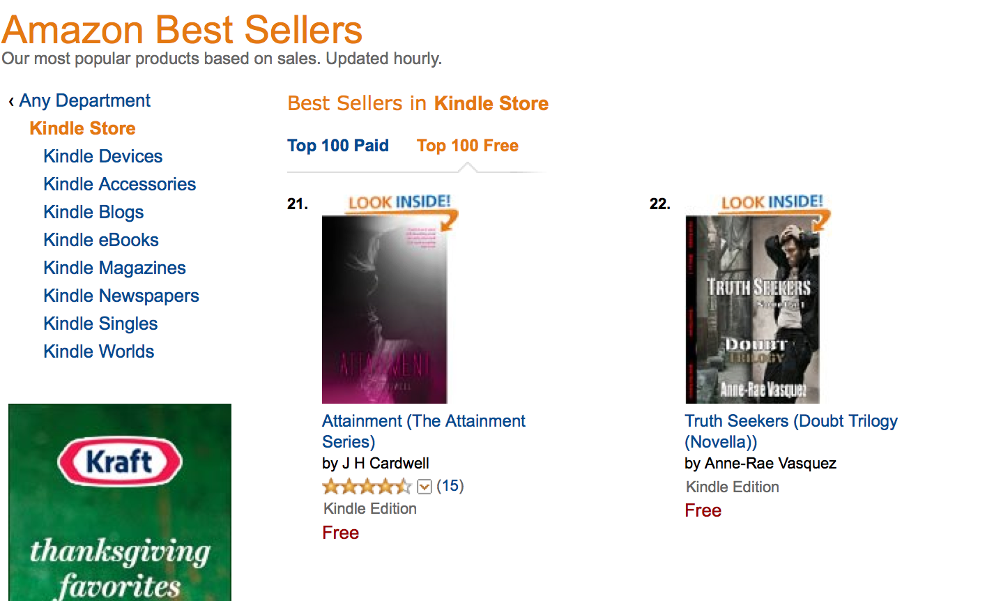 #21 in all Kindle Store