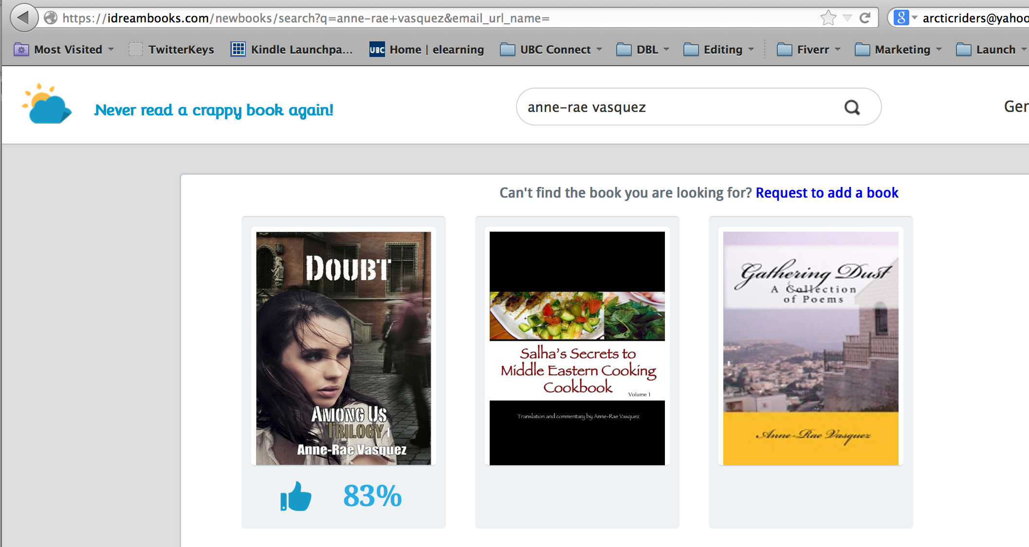 Doubt featured on iDreamBooks