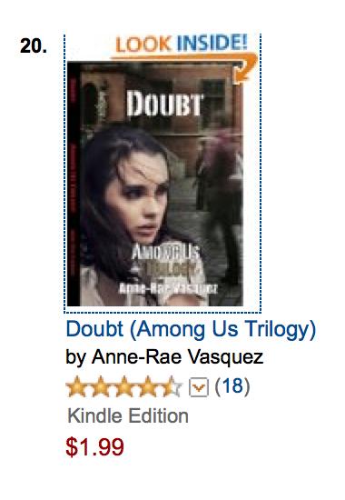 Doubt is #20 on Amazon Best Seller list