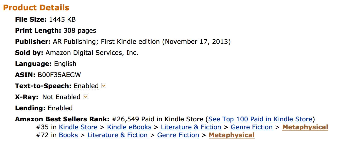 Doubt rises to #35 Amazon Best Seller List