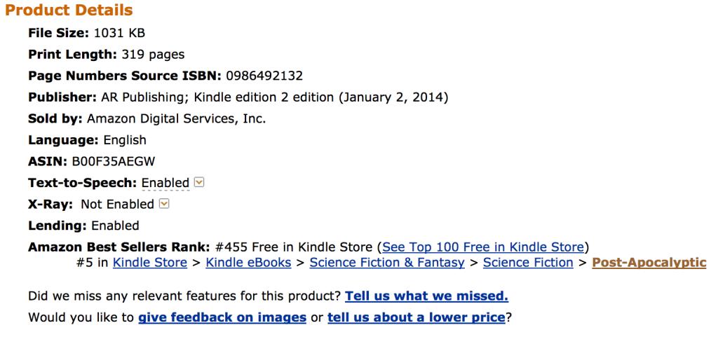 #5 Amazon Best Seller list Post Apocalyptic - Doubt Among Us Trilogy