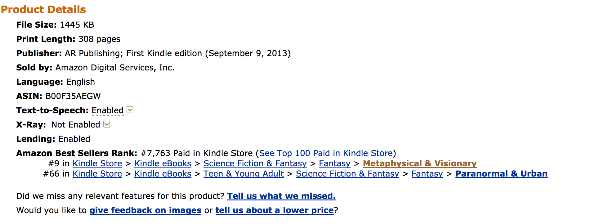 Doubt is on Amazon Best Seller List Top Ten