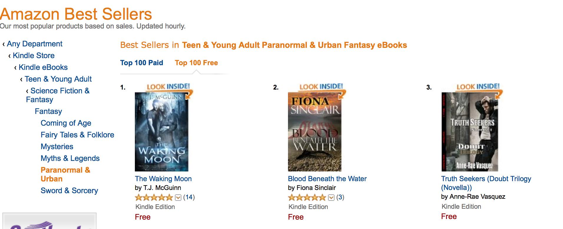 # Amazon best seller list