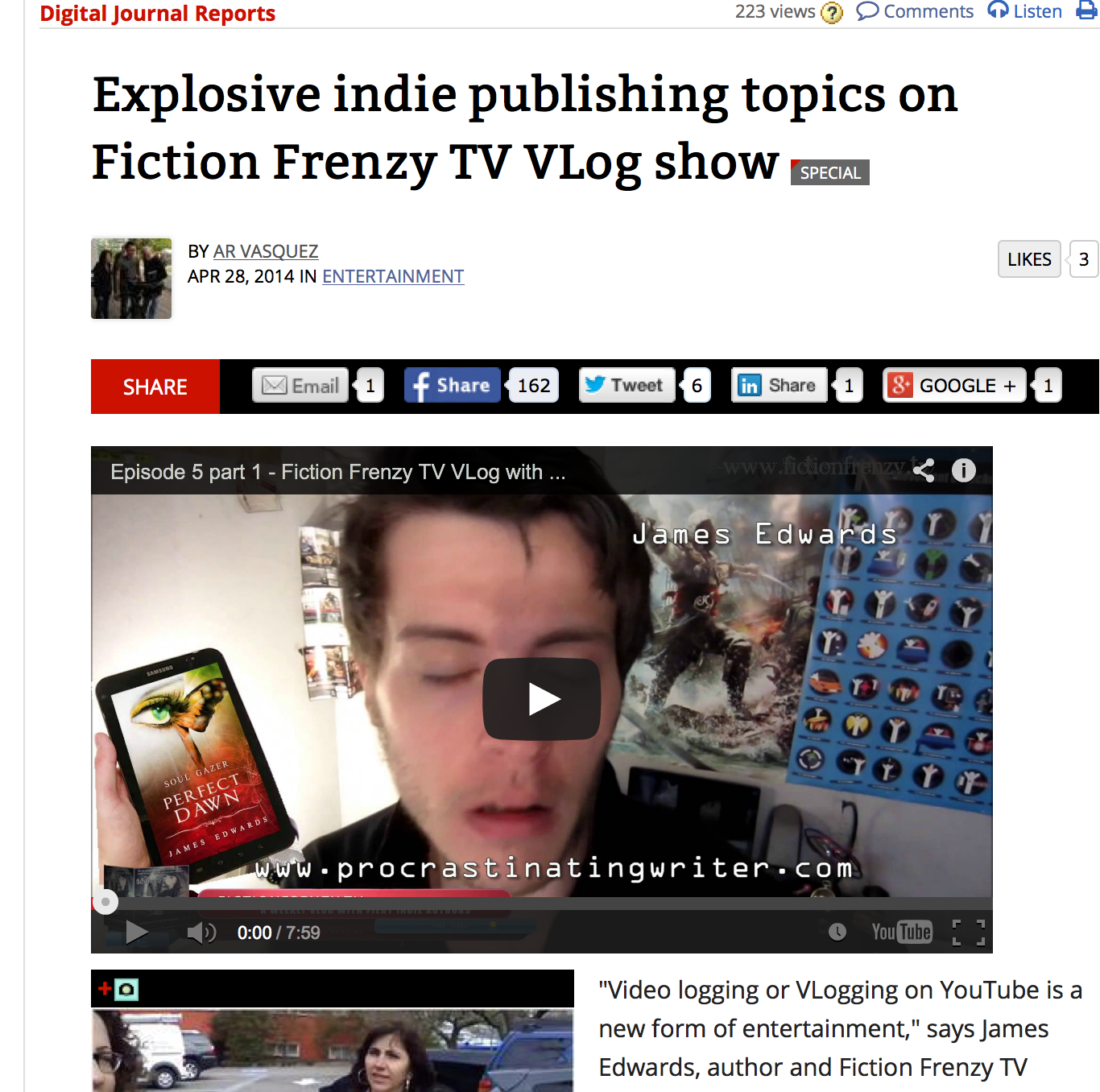 Fiction Frenzy TV Vlog channel