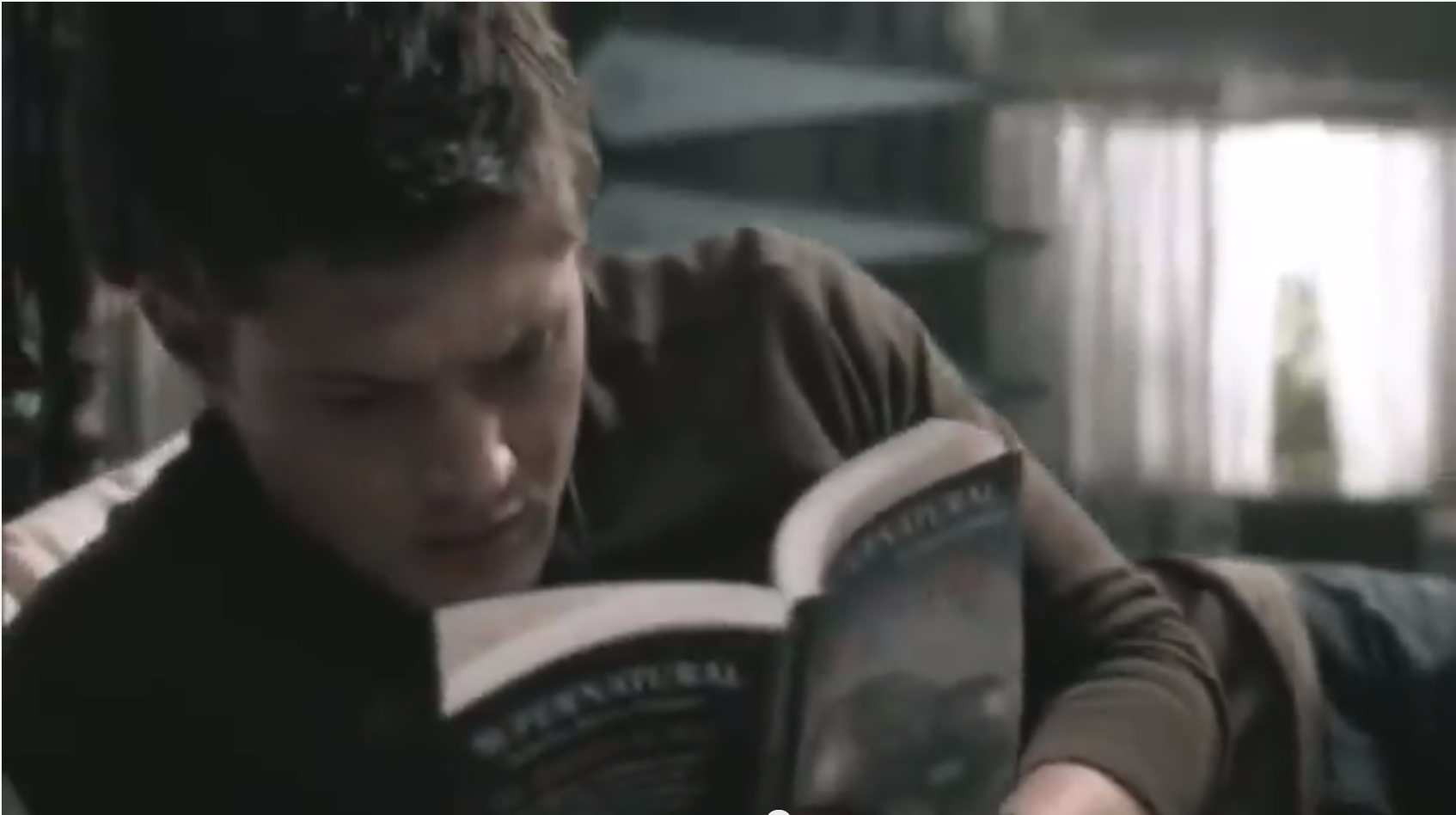 Dean reads Supernatural books by Chuck